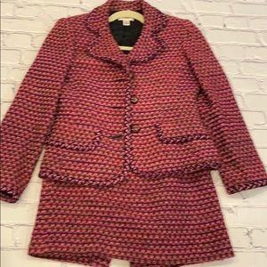 Talbots vintage wool blend suit.